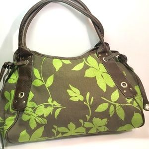 Cute Green and Brown Canvas Purse